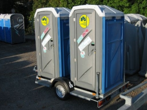 Toiletten Anhänger 2er