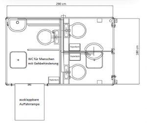 Toiletten-Container Grundriss